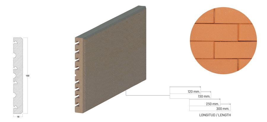 Клинкерная плитка brick-tile 150 для вентфасадов