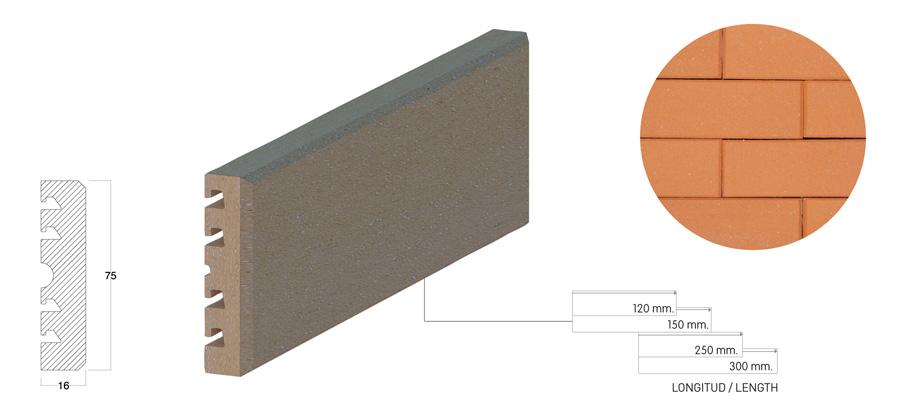 Клинкерная плитка brick-tile 7.5