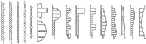 Возможные конфигурации керамических плит Faveton