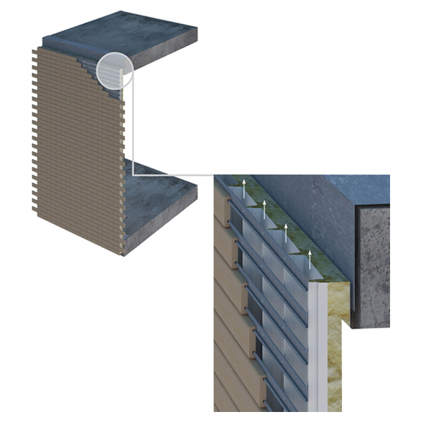 Система вентилированного фасада Brick-tile